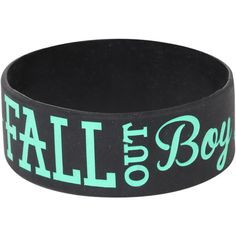 Fall Out Boy Anchor Rubber Bracelet Hot Topic ($23) ❤ liked on Polyvore featuring jewelry, bracelets, accessories, rubber jewelry, anchor jewelry and rubber bangles