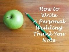 As you prepare for your wedding, you will begin to realize that writing the thank you cards will be an event in itself. If you've already had...