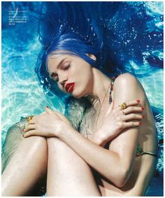 Dreamy Underwater Editorials - The Sent From Above Beauty Story Features Aquatic Captures (GALLERY)