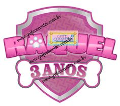 5 Inch Pink Amp Purple Paw Patrol Logo Precut Icing