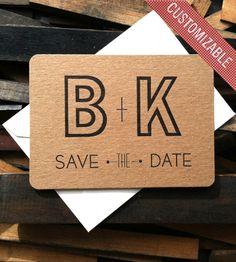 Custom Initial Save the Date Letterpress Cards | B. IMPRESSED