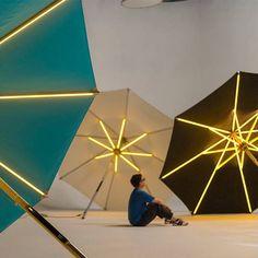 Foxcat design parasol lumineux NI LED #foxcatdesign #parasollumineux