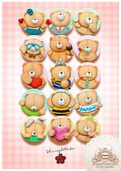Adorable teddy cookies