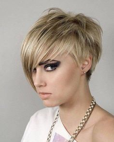 ❤ If I ever go w/ short hair again I'd probably do something like this!