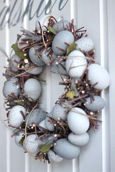 Easter egg wreath