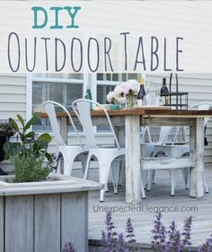 DIY Outdoor Table with tutorial and a chance to win a BLACK+DECKER 20V MAX* Lithium Cordless Drill/Driver with AutoSense Technology!! #sp #LithiumDrill