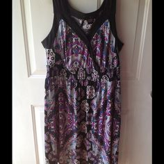 New Directions Sleeveless Dress Size 1x Great dress for summer or year round with a shawl or cardigan. All my items come from a smoke and pet free home. new directions Dresses Midi