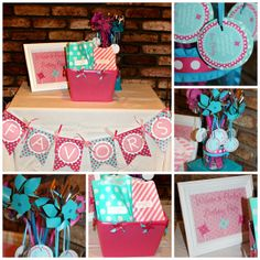 Cute pinwheel girl birthday party