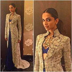 Mixing simplicity with elegance, @deepikapadukone's look for Umang Mumbai police show tonight is one of our favourites this month! Is it yours too?