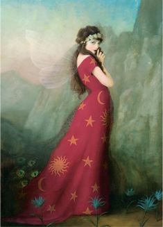 ☼ Cosmic Couture ☽ Celestial Costumes ☼ lady in red