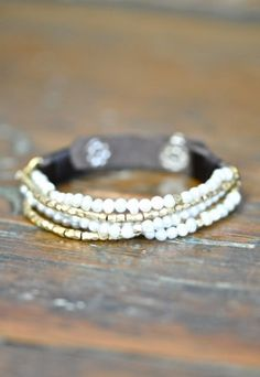 Josie Pearl Bracelet at OurChoix.com, Boho Clothing, Vintage Style Clothing, Artisan Jewelry
