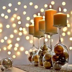 Wonderful Ever New Years Eve Decoration For Your Home. ing are the Ever New Years Eve Decoration For Your Home. This post about Ever New Years Eve Decoration For Your Home was posted under the category by our team at March 2019 at pm. Hope you enjoy . Deco Nouvel An, New Year Table, New Years Eve Table Setting, Wine Glass Candle Holder, Glass Holders, Wine Bottle Candles, Wood Candle Holders, Glass Bottle, Deco Table Noel