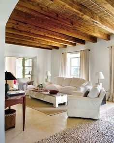 Jazz Up Your Basement Ceiling Exposed Basement Ceiling, Exposed Ceilings, Exposed Rafters, Ceiling Beams, Beam Ceilings, Basement Remodeling, Living Room Interior, Home And Living, Cozy Living