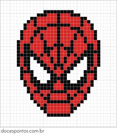 Red, white and black pearls are needed for Spiderman – weihnachten – Hama Beads Hama Beads Design, Hama Beads Patterns, Beading Patterns, Perler Bead Art, Perler Beads, Pixel Art Super Heros, Pixel Art Animals, Cross Stitch Embroidery, Cross Stitch Patterns