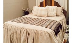 Farmhouse Bedding – Your Go To Guide Taupe Bedding, Ruffle Bedding, Queen Bedding Sets, Comforter Sets, Grey Paint Colors, Neutral Paint, Buffalo Check Pillows, Ashley Home, Bed Dimensions