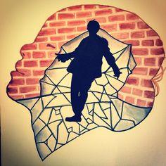 Mic Drop, Bts Fans, Serenity, My Arts, Fan Art, Silhouette, Watercolor, Instagram, Decor