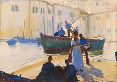 Near the Wharves, ca. 1930s  Watercolor on paper | John Whorf