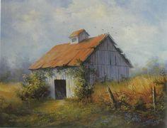 Watercolor Barns, Watercolor Landscape, Landscape Paintings, Watercolor Paintings, Landscapes, Farmhouse Paintings, Country Paintings, Barn Paintings, Barn Pictures