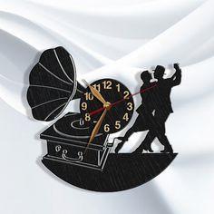 Tango Wall Clock, Dance Wooden Clock 12inch(30cm), Wall Art Decor, Wood Clock, Modern, Dancing School,  I Love Dance, Home decor, Gift Idea