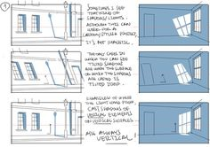 Enjoy a series of Drawing Tips by Thomas Romain on backgrounds, buildings, interiors & more. Thomas Romain is a French animator who is responsible for Manga Drawing, Drawing Tips, Drawing Reference, Drawing Artist, Drawing Ideas, Thomas Romain, Perspective Drawing Lessons, Background Drawing, Background Ideas