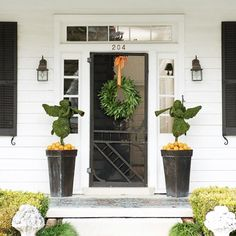 Adorn Your Door With Two Beautiful Green Angels