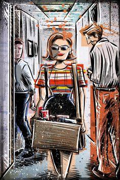Peggy Olson, Mad Men, Art Print, Peggy Olsen,lost horizon Joe Badon Elisabeth Moss Don Draper Sterling Cooper Ad Advertising AMC