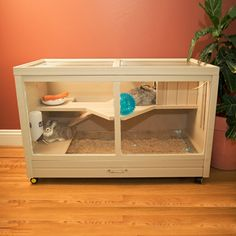 New Age Pet EHRH002-00 Habitat'N'Home Park Ave Indoor Hutch | ATG Obchody