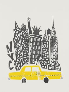 new york poster New York Cityscape as Premium Poster by Fox amp; New York Poster, City Poster, Poster Art, New York Illustration, Travel Illustration, Illustration Artists, City Framed Art, Framed Art Prints, Canvas Prints