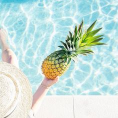 We love supporting other folks who have made travel their life!!There's nowhere better to be than poolside with a pineapple when a heatwave sets in  ⠀( # @meandmytravelbugs via @latermedia )
