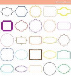 Colorful Digital Frames, Digital Frames Clip Art, Classic frames, Scrapbooking Frames, Basic Frames, Clip Art Frames, Card graphics  - 1 Zip folder