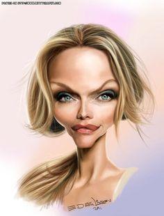 Michelle Pfeiffer  caricature by Ed Van Der Linden