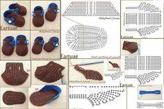 Free Crochet Sock Patterns - Beautiful Crochet Patterns and Knitting Patterns Baby Knitting Patterns, Crochet Socks Pattern, Crochet Diagram, Free Crochet, Crochet Patterns, Booties Crochet, Crochet Baby Boots, Crochet Slippers, Crochet Accessories