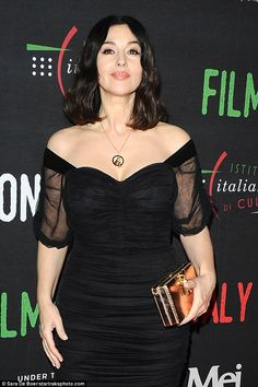 Glamorous: Bellucci brought her starry aura to the red carpet in LA for the awards season ...