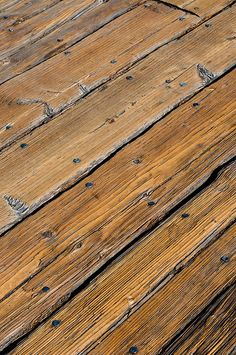 Wood Texture I love wood. I love old wood and the color/richness/story that comes with it. I love nail holes.I love wood. I love old wood and the color/richness/story that comes with it. I love nail holes. Wooden Flooring, Hardwood Floors, Old Wood Texture, Floor Texture, Into The Woods, Cafe Interior, Interior Design, Salvaged Wood, Wabi Sabi