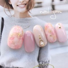 Opting for bright colours or intricate nail art isn't a must anymore. This year, nude nail designs are becoming a trend. Here are some nude nail designs. Nude Nails, Pink Nails, Uñas Fashion, Kawaii Nails, Wedding Nails Design, Japanese Nails, Bridal Nails, Marble Nails, Nail Art Hacks