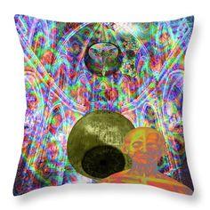 Paris 2015 Summit Throw Pillow featuring the digital art Solar Plexus Spirit by Joseph Mosley