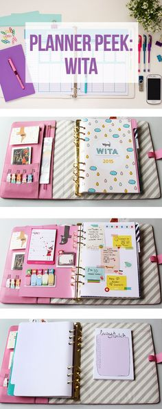 Planner Peek of a Kikki K Planner. Planner ideas for plannergirls