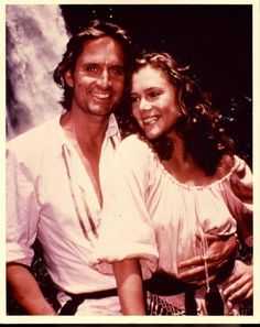 "MICHAEL DOUGLAS & KATHLEEN TURNER in ""Romancing the Stone"""