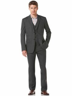 Perry Ellis Linen Cotton Suit