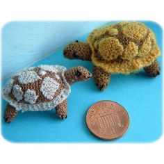 1:12th scale Tortoise toy Knitting pattern by Frances Powell | Knitting Patterns | LoveKnitting