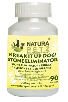 - Description - Ingredients - Contraindications - Interactions - Cautions - Dosage Stone Eliminator + Kidney, Gallstone & Liver Support* (* As recommended by holistic veterinarians for use under a tra