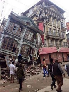 Photo taken by my husband who was in KTM when the quake hit. He is now spearheading a relief effort through First Love International.