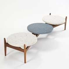 307: Greta Magnusson Grossman / coffee table  Modern Design, 10 October 2006  Auctions | Wright. Glenn of California. Sweden/USA, c. 1950. Walnut, terrazzo