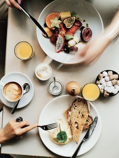 Granger & Co. is the perfect place to share a breakfast of fruit, eggs, and toast. #London