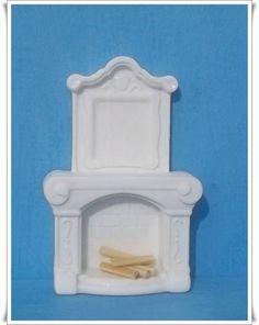 Miniatura feita em resina 100% Pura - cor branca R$ 4,51