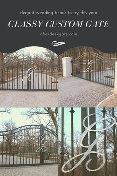 These modern Texas ranch gates were designed to set this driveway apart from their neighbors. They are made of aluminum which is lighter weight to be easier on automation equipment. They also will not rust, so the black will stay black. Let us help you build your dream ranch gates. Modern Ranch, Modern Farmhouse Style, Modern Rustic, Security Gates, Iron Gate Design, Custom Gates, Texas Ranch, Driveway Gate, Entrance Gates