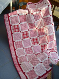 Red and white plaids quilt by Wiebke Maschitzki  - BERNINA - Mitmachaktion: Red and White Quilts