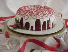 Red Velvet Bundt Cake for Christmas
