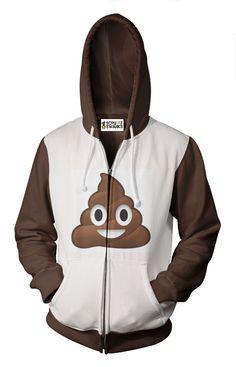 Poop Emoji Zip Up Hoodie - Scruffy Swanks