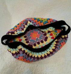 Camille's Granny Square Market Bag, made with Lily Sugar n Cream cotton yarn. Granny Square Bag, Market Bag, Crochet Bags, Lily, Sugar, Cream, Projects, Cotton, Inspiration